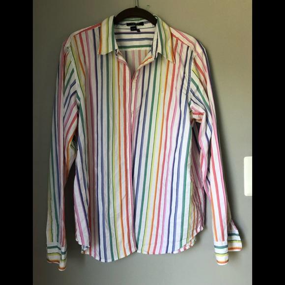 Chaps Tops - Striped multi blouse
